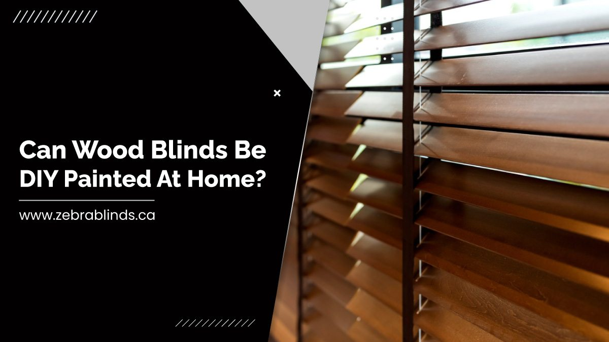 Can Wood Blinds Be DIY Painted At Home?