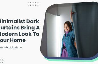 Minimalist Dark Curtains Bring A Modern Look To Your Home