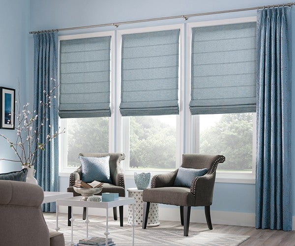 Artisan Highlights Motorized Roman Shades Graber