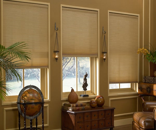 Cordless Light Filtering Crown Cellular Shades