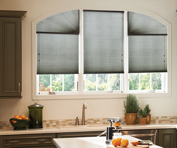 CrystalPleat Graber Motorized LF Double Cellular Shades