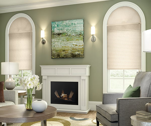 CrystalPleat Graber Motorized LF Single Cellular Shades