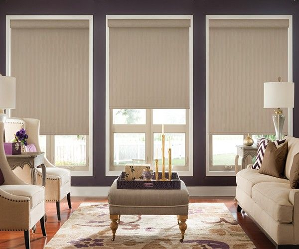 LightWeaves Graber Motorized Blackout Roller Shades - www.zebrablinds.ca