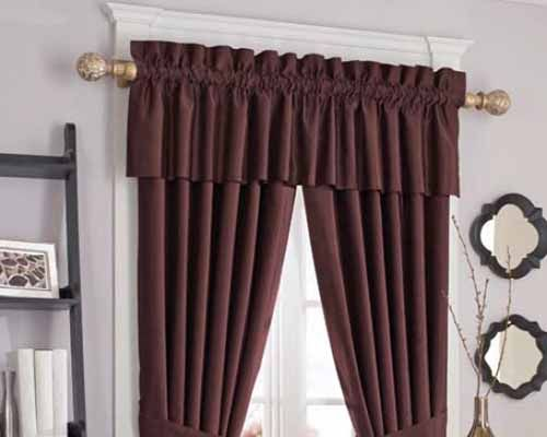 Coordinating Custom Valances Rod Pocket Crown